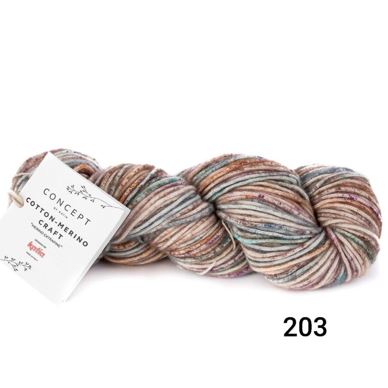 203 Brown-lilac-turquoise